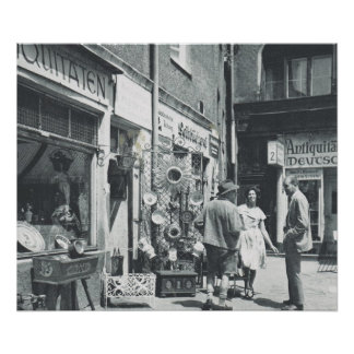 Vintage lojas antigas de Alemanha, Munich Poster