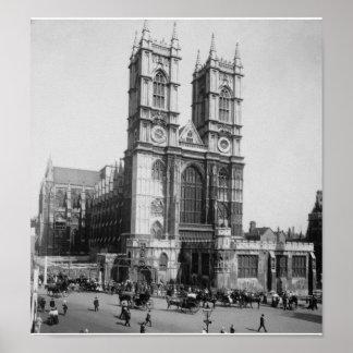 Vintage Londres Inglaterra, abadia de Westminster Poster