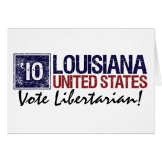 Vintage Louisiana do libertário do voto em 2010 - Cartão