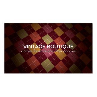 Vintage No4 colorido retro Cartoes De Visitas