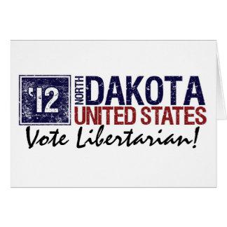 Vintage North Dakota do libertário do voto em 2010 Cartão Comemorativo