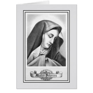 Vintage nossa senhora do católico das amarguras cartão