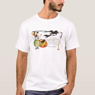 Vintage o Dia das Bruxas Camisetas