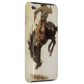 Vintage ocidental, vaqueiro em um cavalo Bucking Capa Para iPod Touch