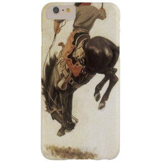 Vintage ocidental, vaqueiro em um cavalo Bucking Capas iPhone 6 Plus Barely There