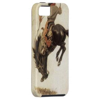 Vintage ocidental, vaqueiro em um cavalo Bucking Capas Para iPhone 5