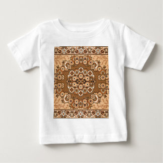vintage oriental branco bege marrom do teste t-shirt