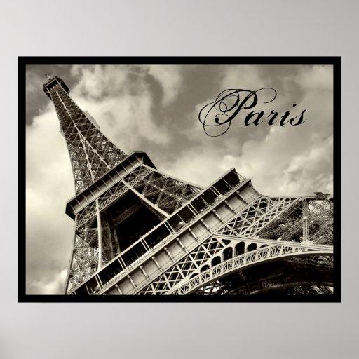 vintage paris poster da torre eiffel zazzle. Black Bedroom Furniture Sets. Home Design Ideas