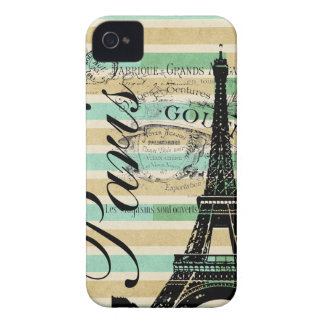 Vintage Paris & torre Eiffel Blackberry corajoso Capa Para iPhone