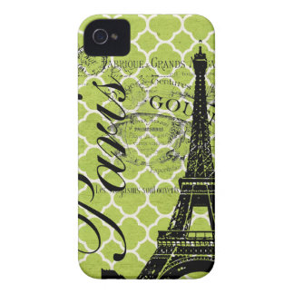 Vintage Paris & torre Eiffel Blackberry corajoso Capas Para iPhone 4 Case-Mate