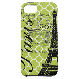 Vintage Paris & torre Eiffel Blackberry corajoso Capas Para iPhone 5
