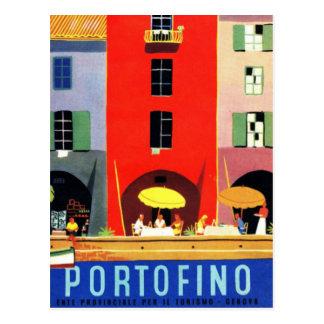 Vintage Portofino Genebra Italia Cartão Postal