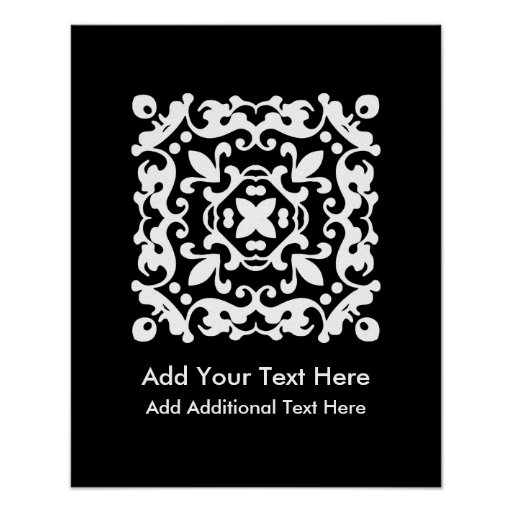 Vintage preto e branco elegante decorativo posters