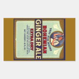 Vintage que anuncia o misturador seco boémio do adesivo retangular