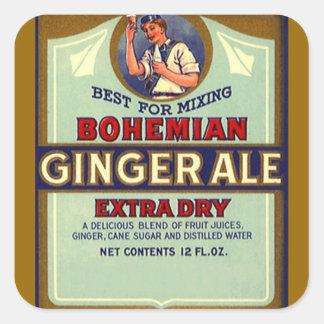 Vintage que anuncia o misturador seco boémio do gi adesivo