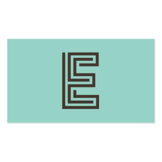 Vintage retro do monograma de E personalizado Cartão De Visita