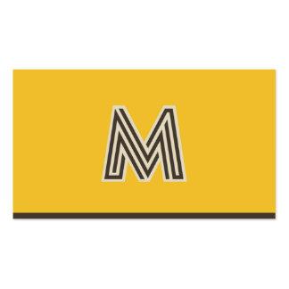 Vintage retro do monograma de M personalizado Cartão De Visita