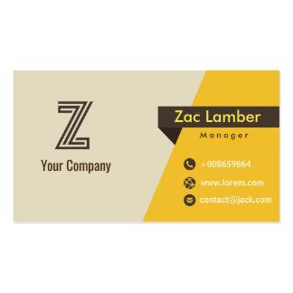 Vintage retro do monograma de Z personalizado Cartão De Visita