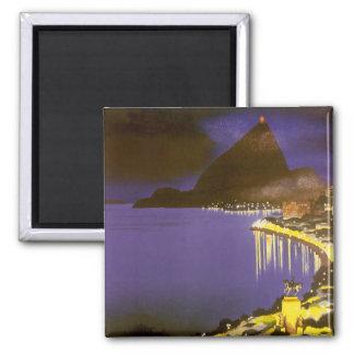Vintage Rio de Janeiro na noite Imãs De Refrigerador