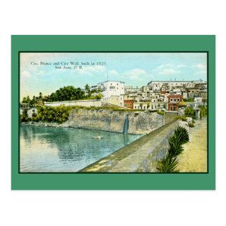 Vintage San Juan, Puerto Rico Cartão Postal