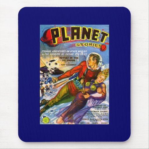 Vintage Sci Fi das histórias do planeta cómico Mousepad