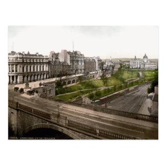 Vintage Scotland, Aberdeen, terraço da união Cartão Postal