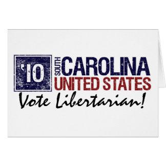 Vintage South Carolina do libertário do voto em Cartão Comemorativo