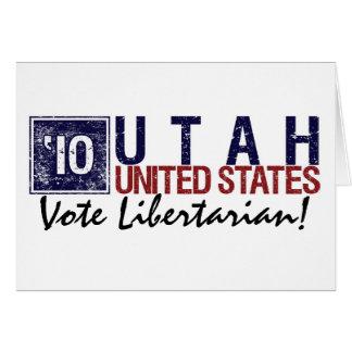 Vintage Utá do libertário do voto em 2010 - Cartão Comemorativo