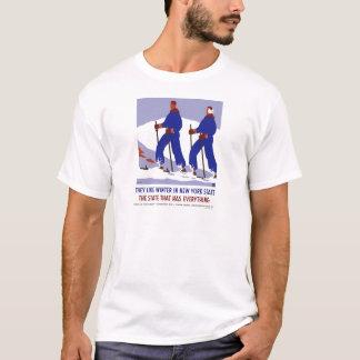 Vintage-Viagem-Poster-Novo-York-América-EUA T-shirts