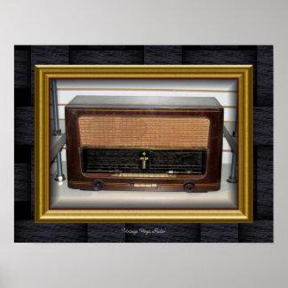 """""""Vintage Wega Radio Pôster"""
