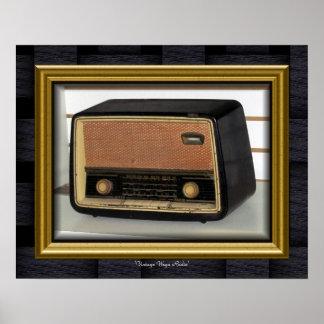 'Vintage Wega Radio Pôster