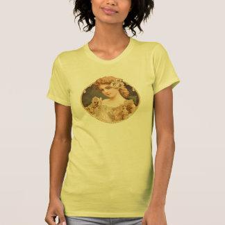 Vintage Woman_yellow floral Camiseta