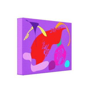Violeta vermelha da fruta impressão de canvas esticadas