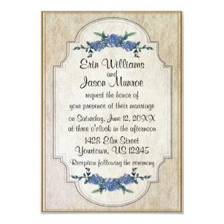 Violetas envelhecidas que Wedding o convite