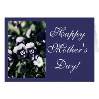 Violetas profundas azul, variedade dos presentes cartão comemorativo