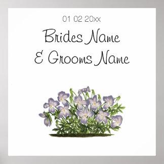Violetas que Wedding ofertas das lembranças das Póster