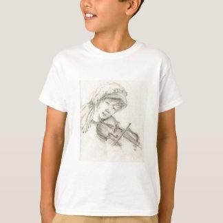 Violinista da menina t-shirt