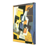 Violino e vidro por Juan Gris, Cubism do vintage Impressão Em Canvas