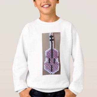 Violino roxo frisado camisetas