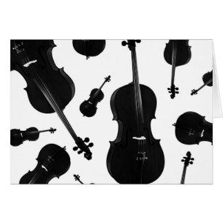 violoncelo cartão comemorativo