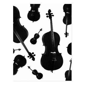 violoncelo cartão postal