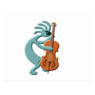 Violoncelo de Kokopelli Cartão Postal