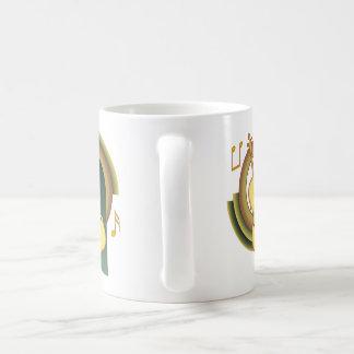 Violoncelo decorativo caneca de café