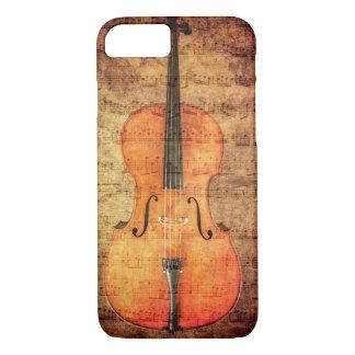 Violoncelo do vintage capa iPhone 8/7