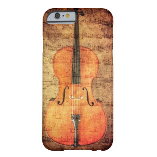 Violoncelo do vintage capa barely there para iPhone 6