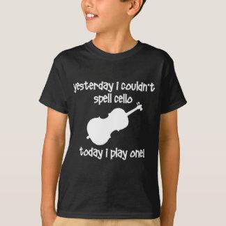violoncelo engraçado camiseta
