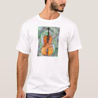 Violoncelo psicadélico t-shirt