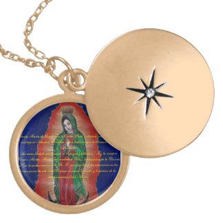Virgen de Guadalupe Oracion Medalion Colares Personalizados