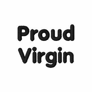 Virgin orgulhoso camisa bordada camiseta bordada polo