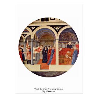 Visita ao berçário Tondo por Masaccio Cartão Postal
